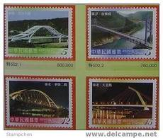 Taiwan 2007 Bridge Stamps (I) Architecture River Scenery - Unused Stamps