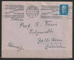 Auslandsbrief Mit MiNr 416 (EF) Mit Werbestempel MÜNCHEN 11.11.32 Nach  Zollikon (Schweiz) - Briefe U. Dokumente