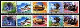 Taiwan 2006 Greeting Stamps Travel Camera Train Waterfall Canoe Park Sailboat Heart Railway Alpine Handbag - Unused Stamps