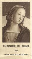 """5984 """" CENTENARIO DEL DOGMA DELLA IMMACOLATA CONCEZIONE-1940 """" ORIGINALE - Santini"""