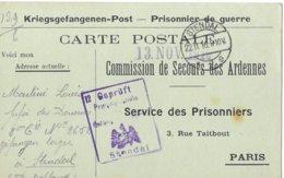 Ardennes Givet  Martini Louis  Soltau  Prisonnier   Remarque:   Daté Du 22/11/1918 - Poststempel (Briefe)