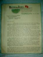 Cultures Et Exportation De Pommes De Terre Semence De La Frise Hettema Zonen Leeuwarden 1947 Hollande / Bressuire - Niederlande