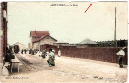 BELGIQUE BELGIE Le Tramway à Cheval à La Sortie De La Gare D'ADINKERKE Carte Toilée - De Panne