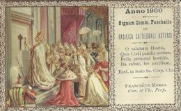 """5986 """"ANNO 1900-SIGNUM COMM. PASCHALIS IN BASILICA CATHEDRALI ASTENSI  """"ORIGINALE - Santini"""