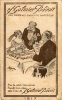 PETIT CALENDRIER...1917..publicite SAINT GALMIER BADOIT.... - Small : 1901-20
