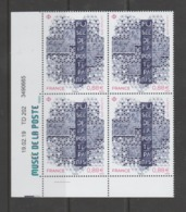 """FRANCE / 2019 / Y&T N° 5356 H ? ** : Musée De La Poste à Paris (de """"feuille Habillée"""") X 4 - Coin Daté 2019 02 19 (-) - Hoekdatums"""