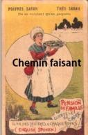Chromo Thés & Poivres SARAH - Pension De Famille Avec Huîtres.. - Scans Recto-verso - Thé & Café