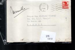 266 Singolo Isolato Lire 40 Michelangiolesca Su Stampe - 1961-70: Storia Postale
