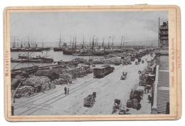MARSEILLE BASSIN DE LA JOLIETTE PORT TRAIN - CDV PHOTO 16.5X10.5 CM BOUCHES DU RHONE - Trains