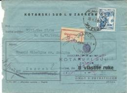 Yugoslavia.Croatia.- Kotarski Sud U Zagrebu Via Vrapce Village 1958 ( Parti Label ) - Lettres & Documents