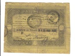 Pio IX 1846-1878 Bono Da 2 Scudi  29 04 1848  Taglietti Diffusi Anche Profondi Ma Molto Raro  LOTTO 2406 - Italia