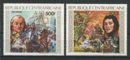 CENTRAFRICAINE 1989 PA N° 387/388 ** Neufs MNH Superbes C 14 € Révolution Française Bateaux Voiliers Chevaux Hoche - Centrafricaine (République)