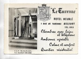 "90 - RARE -  BELFORT "" Le Turenne "" Hôtel Meublé, 1 Rue De Turenne. - Belfort - Città"