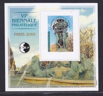 ND CNEP N° 80a NON DENTELE NEUF ** MNH - VI ème BIENNALE PHILATELIQUE PARIS 2019, Papier Gommé, TB - CNEP