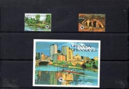 Grenada-Grenadines Nº 545-46 + H.B. 85, Serie Completa En Nuevo 14,50 € - Grenada (1974-...)
