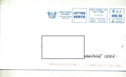 Lettre Flamme Ema Paris Cercle Des Armees - EMA (Print Machine)