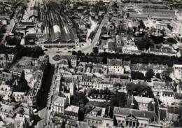 CPSM  Grand Format ORLEANS (Loiret ) Vue Aérienne Sur La Gare Et La Rue De La Republique  RV Combier - Orleans