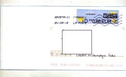Lettre Flamme Chiffree Sous Code Double Sur Vignette Dd Mal Imprimée - 2000 «Avions En Papier»