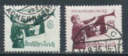 Deutsches Reich 586/87 Gestempelt Mi. 1,40 - Gebraucht