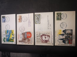 FRANCE PAC Lot 4 Enveloppes 1er Jour ANNEES 1950 1960 - Timbre Poste - 1960-1969