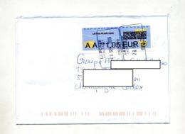 Lettre Rectangulaire Poste Lyon Sur Vignette AA - 2000 «Avions En Papier»