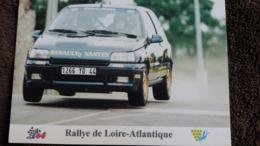 CPM 9 EME RALLYE DE LOIRE ATLANTIQUE RENAULT CLIO WILLIAMS GROUPE A DE CARMEN TACHE ET PATRICIA JOSEPH - Rally