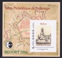 CNEP N° 71 NEUF ** LUXE - SALON PRINTEMPS BELFORT 2016, Bloc Autoadhésif, TB - CNEP