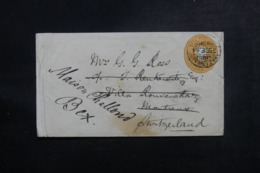 INDE - Entier Postal Type Victoria De Hazaribagh Pour La Suisse En 1894 - L 47273 - 1882-1901 Imperium