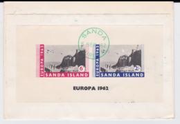 Sanda Island Souvenir Sheeton The Back Of Registered Cover From Great Britain, Campbeltown 1962 - Philatelie & Münzen