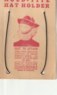 """Hold - Tite Hat Holder Made In Canada 4"""" X 5.5""""  10 Cm X 13.8 Cm - Vintage Clothes & Linen"""
