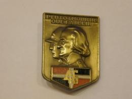 FRANCE MILITARY SIGN PLUTOTMOURIR OUE FAILLIR 46 ENAMEL BADGE 107 - Militaria