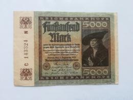 GERMANIA 5000 MARK 1922 - [ 3] 1918-1933 : Repubblica  Di Weimar