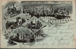 ! Alte Litho Ansichtskarte Gruss Aus Rorschach, 1900, Schweiz - SG St. Gall