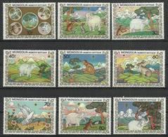 Mongolia 1984 Mi 1657-1665 MNH ( ZS9 MNG1657-1665 ) - Fiabe, Racconti Popolari & Leggende