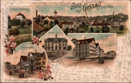 ! 1899 Alte Litho Ansichtskarte Gruss Aus Gosau, Schweiz, Druck Künzli, Zürich Nr. 2066 - SG St. Gall