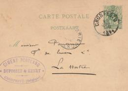 EP 5c - Oblitération CRONFESTU 1884 / Dufossez & Henry / Ciment Portland - Postcards [1871-09]