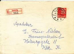 Denmark Registeret Cover Lemvig  Sent To Copenhagen 8-10-1968 Single Franked - Danimarca