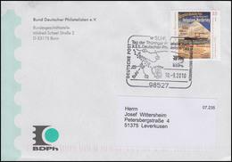 Tag Der Briefmarke & Seepost, Bf SSt Suhl Philatelistentag & Rennsteig 10.9.2010 - BRD