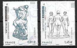 France 2011 N° 4626/4627 Neufs Antoine Bourdelle Et Aristide Maillol Sous Faciale - Francia