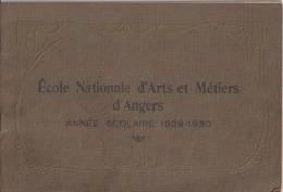 """49 -  Album (18,5 X 27,5) - """"Ecole Nationale D'Arts Et Métiers D'Angers"""" Année Scolaire 1929-1930 - Angers"""