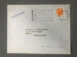 France N°1003 Seul Sur Lettre, Tarif Périodique 1957 - (B2548) - 1921-1960: Periodo Moderno