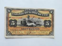 CUBA 5 PESOS 1896 - Cuba
