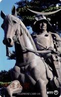 JAPON. Miyagi Prefecture,Sendai - Statue Of Date Masamune. 04/1989. JP-410-215 B. (044) - Japón