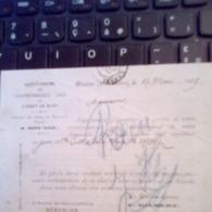 TIMBREE SUR COMMANDE S.A CHARBONNAGES UNIS MONS 1879 PLI SANS GRAVITE BEAU DOCUMENT - Postcards [1871-09]