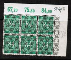 GERMANY   Scott # 599** VF MINT NH INSCRIPTION BLOCK Of 6 (LG-1193) - American/British Zone