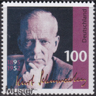 Specimen, Germany Sc1907 Politician Kurt Schumacher (1895-1952), Politicien - Altri