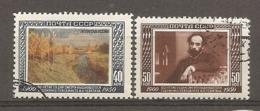 RUSSIE -  Yv N°   1501, 1502  (o)  Peintre Levitancote  2,5   Euro  BE - 1923-1991 UdSSR