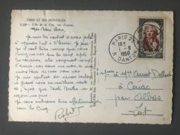 France N°870 (Danton) Seul Sur CP 1950 - (B2558) - 1921-1960: Periodo Moderno