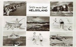 CPSM  Grüsse Von Der Insel HELGOLAND : Multivues - Photo Véritable - Helgoland