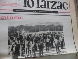 Journal Larzac Défense Du Larzac Gardarem  Lo Larzac N°11 Septembre 1976 - Languedoc-Roussillon